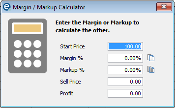 suppliers catalogues button margin calculator